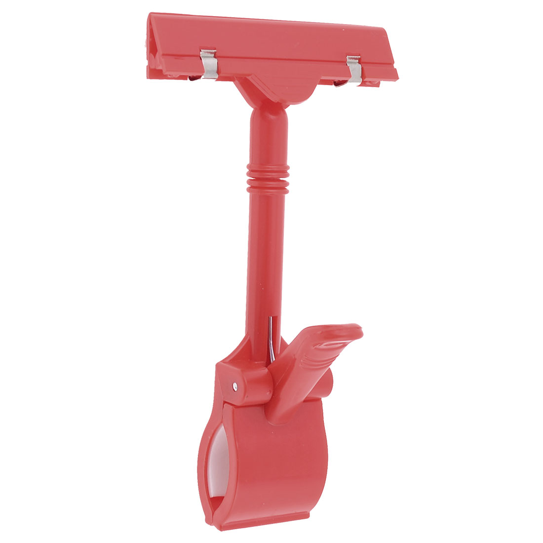 Exhibitions Jointed Design Dual Clamps Red Plastic Pop Thumb Display Clip