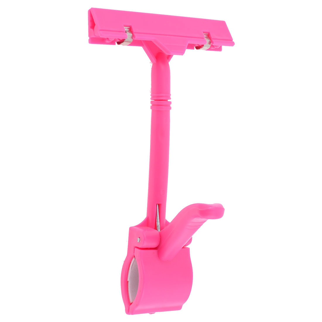 Exhibitions Jointed Dual Clamps Fuchsia Plastic Pop Thumb Display Clip
