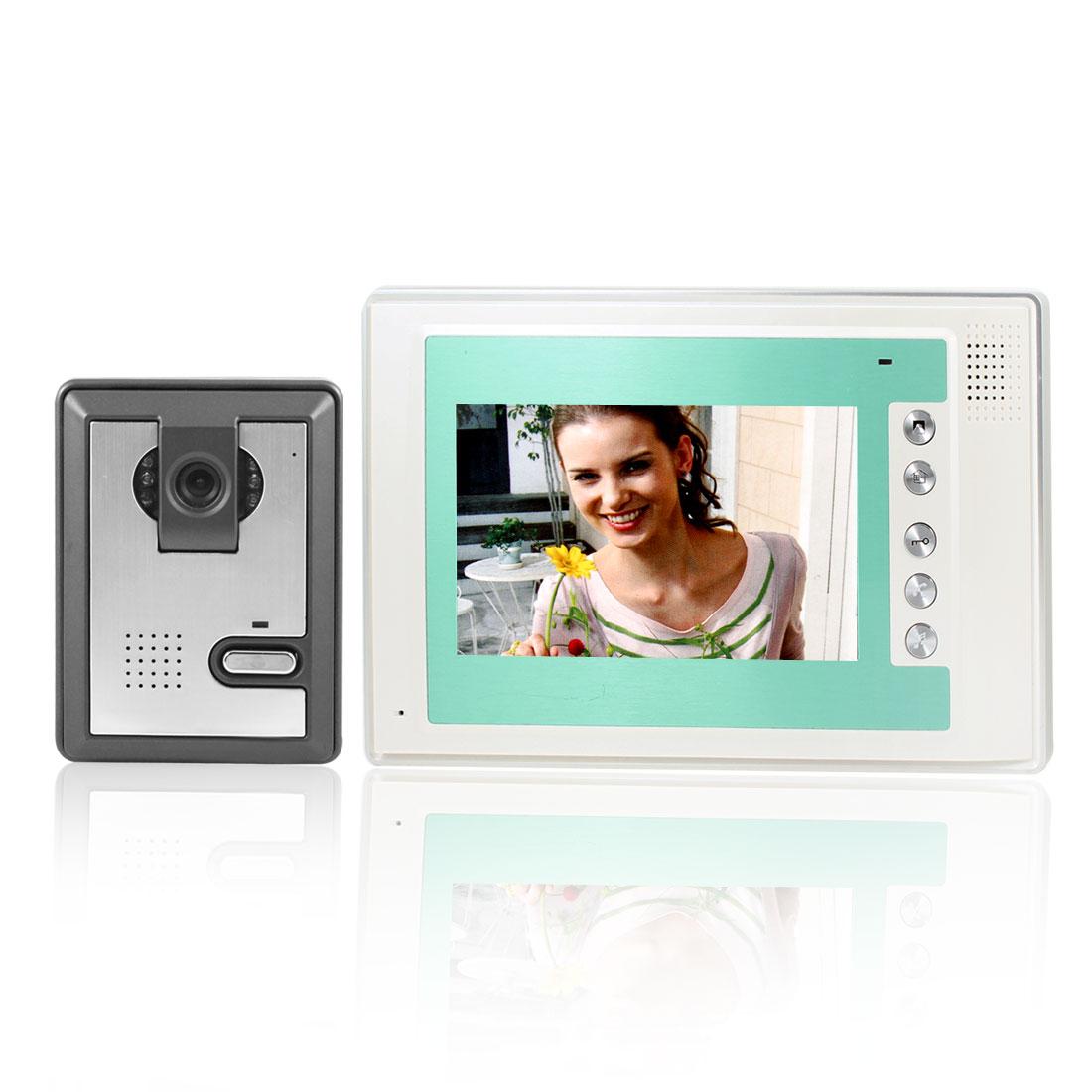 "7"" TFT LCD Color Video Door Phone Doorbell Intercom Camera System US Plug"