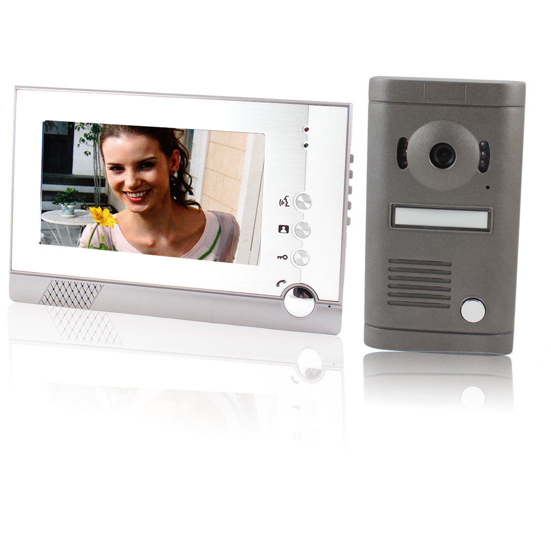 "7"" TFT LCD Home Security Monitor Video Door Phone Doorbell US Plug"