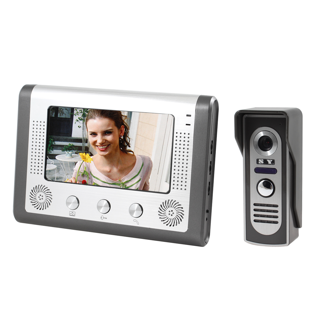 "7"" TFT Monitor Color Video Door Phone Doorbell Home Intercom System US Plug"