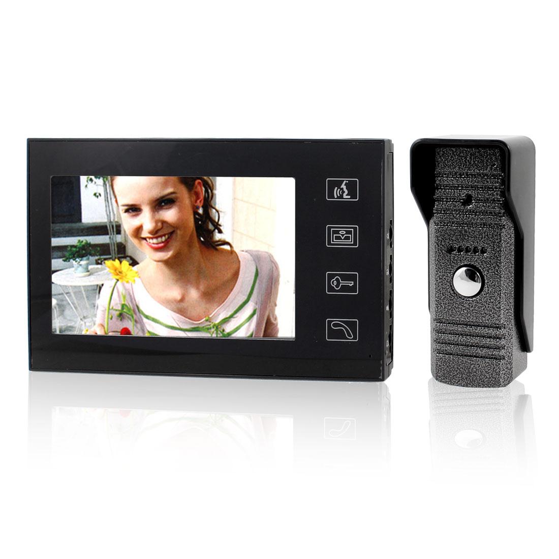 "7"" TFT LCD Display Home Security Intercom IR Monitor Video Door Phone US Plug"