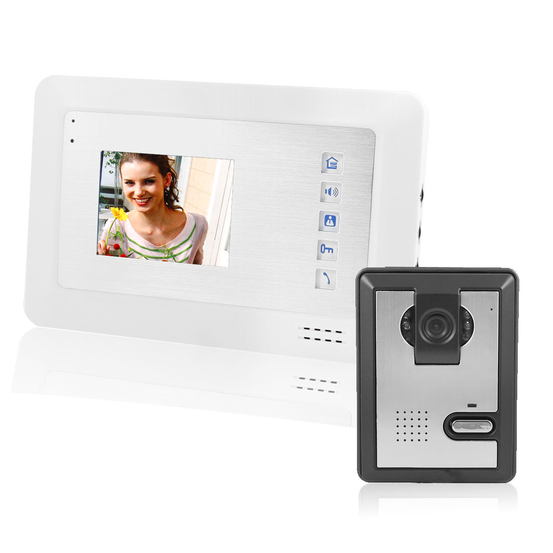 "3.5"" TFT LCD Monitor Video Door Phone Doorbell Intercom Camera US Plug"