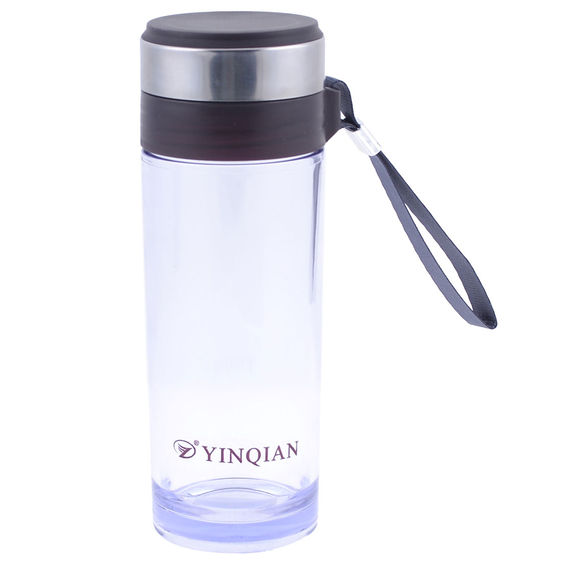 4OOml Plastic Transparent Dark Brown Strainer Design Tea Drinking Water Holder Bottle
