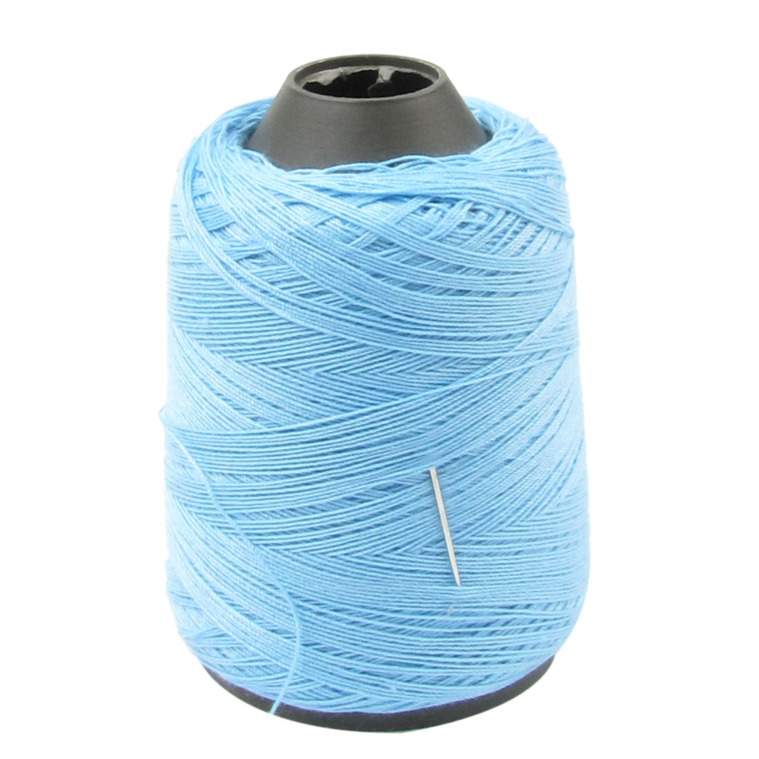 Tapered Plastic Spool Light Blue Embroidery Tailor Sewing Thread String w Needle
