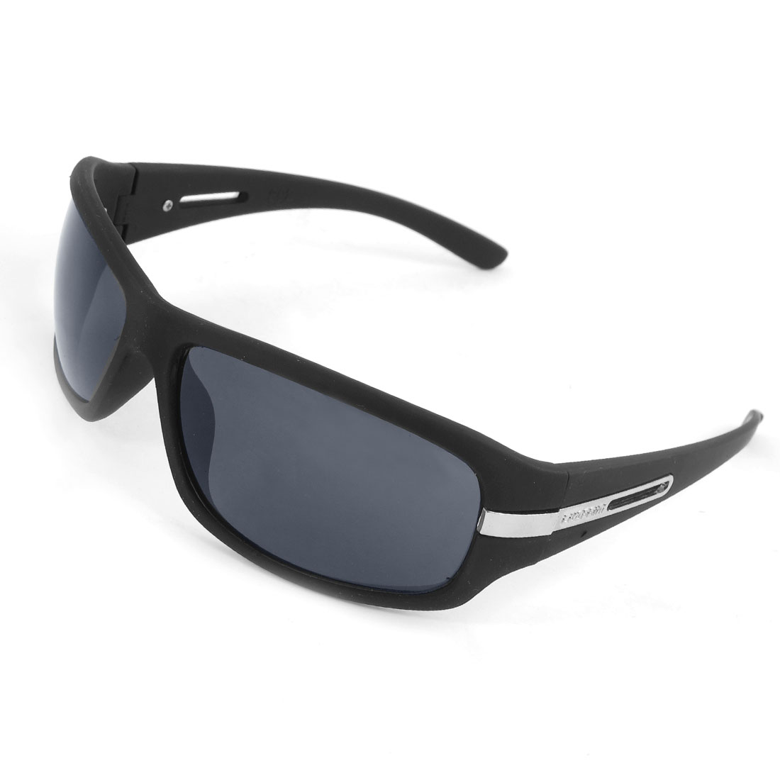 Unisex Black Hollow out Arms Plastic Full Frame Eyewear Sunglasses