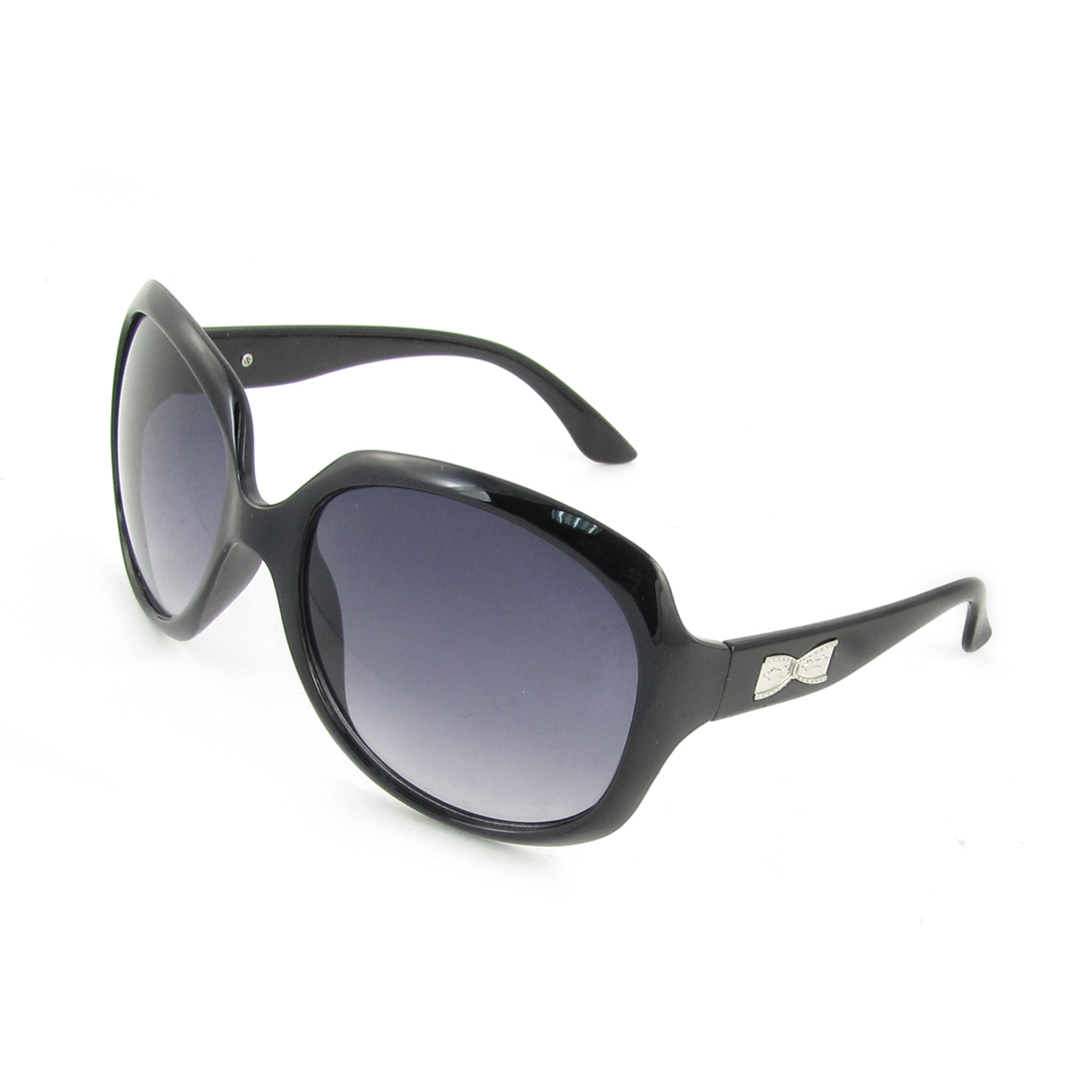 Black Metal Arm Full Rim Frame Single Bridge Sunglasses Glasses for Man