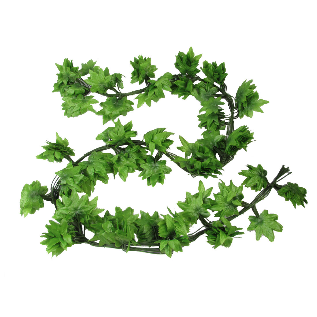 Party House Decoration Green Manmade Maple Leaves Vine 2 Meters Long