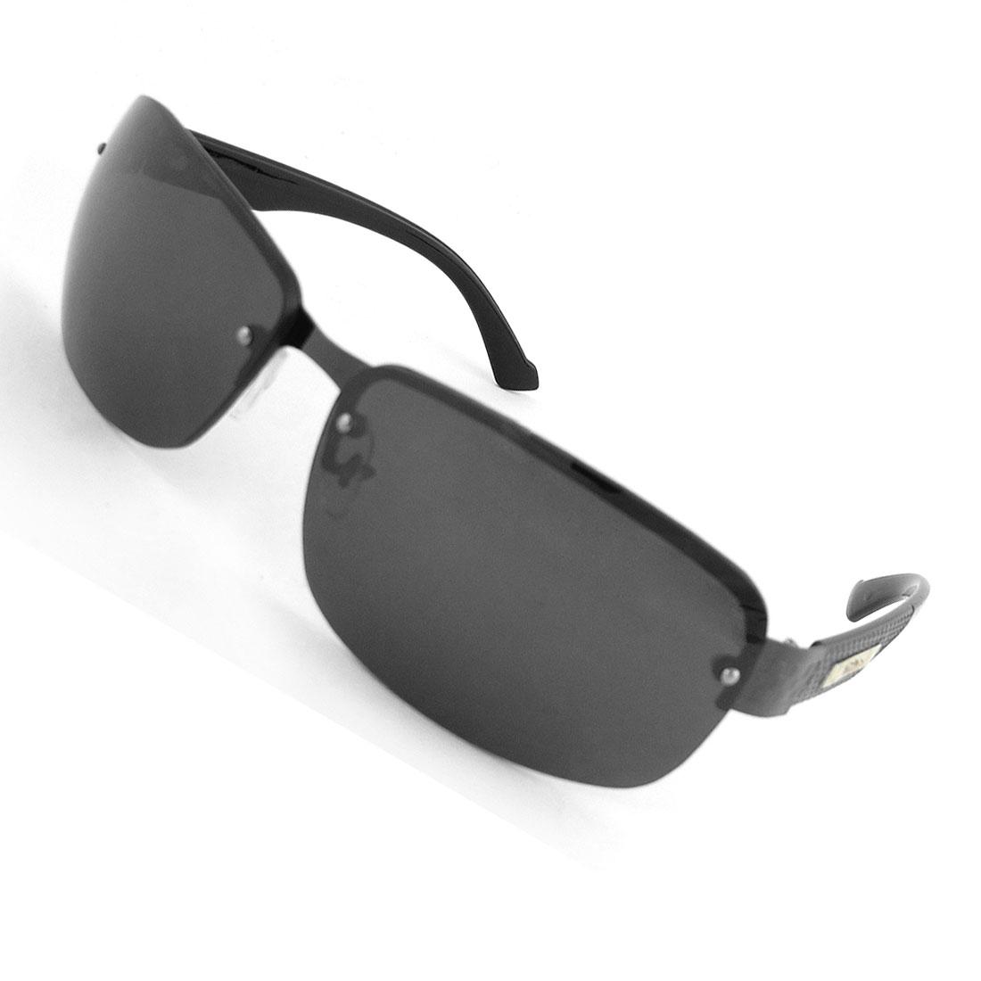 Man Camping Metal Half Frame Plastic Lens Protective Glasses Sunglasses