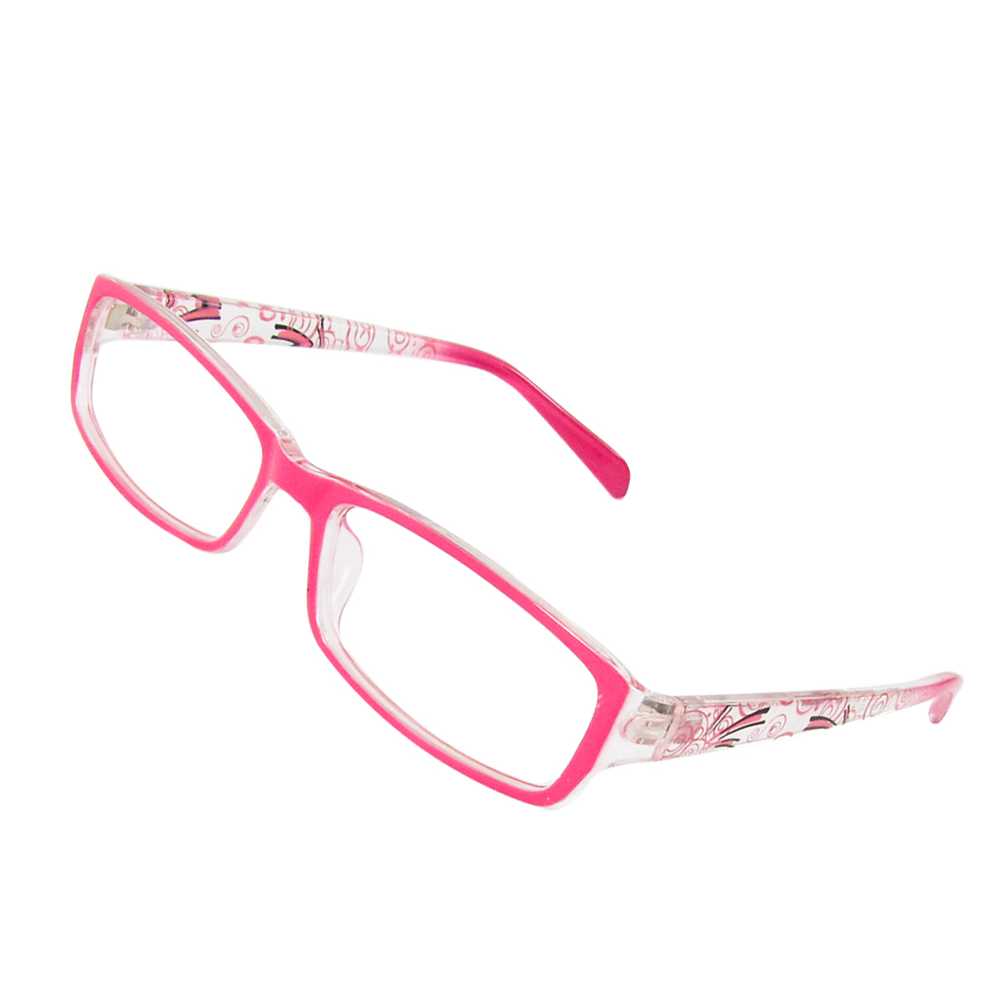 Pink Full Rim Frame Single Bridge MC Clear Lens Glasses Spectacles for Woman