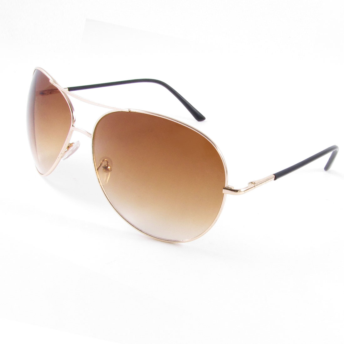 Metal Arms Full Rim Frame Teardrop Shaped Colored Lens Sunglasses for Woman