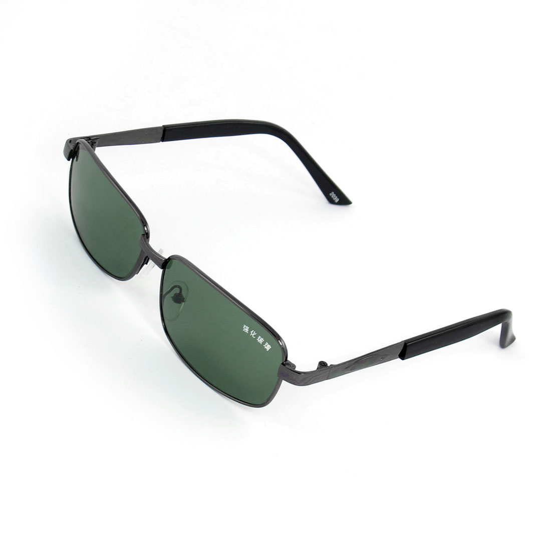 Outside Traveling Full Frame Metal Arm Green Lens Sunglasses Glasses for Lady