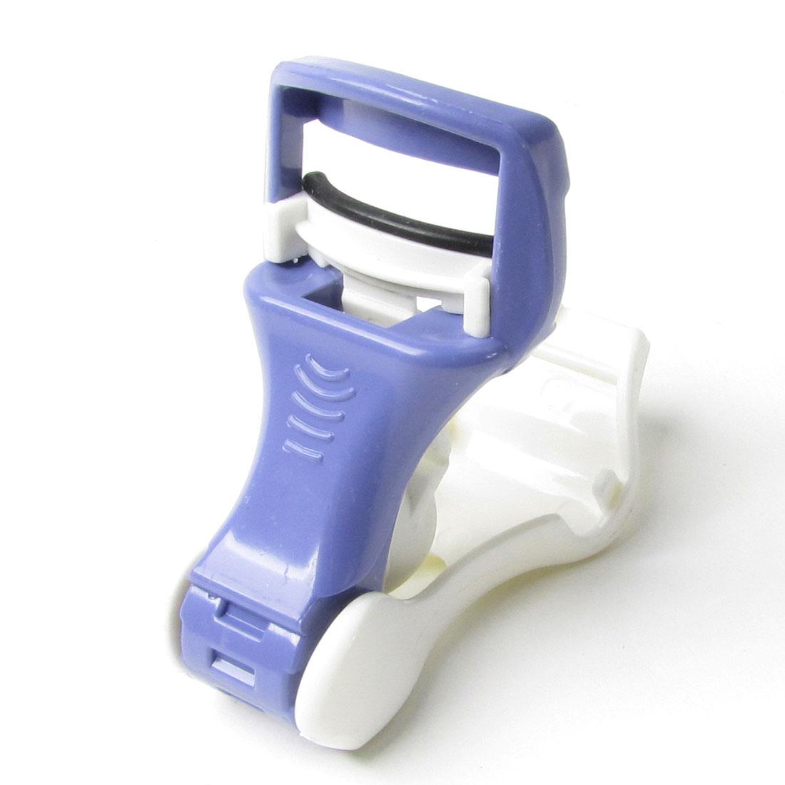 Plastic Handle Eyelash Curler Makeup Tool White Blue for Women Ladies