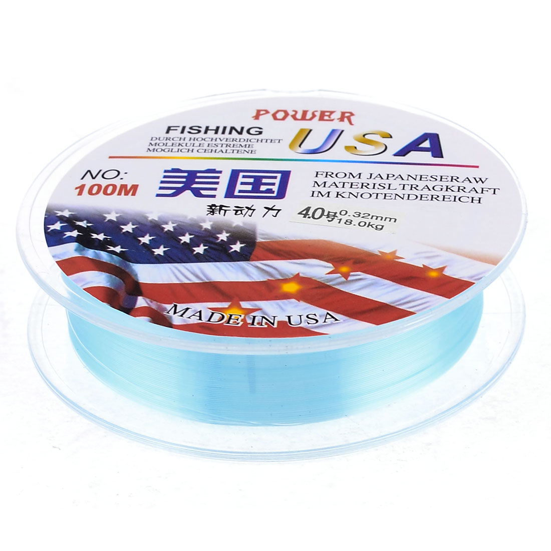 4# 0.32mm Dia 109.4Yd Thread 18Kg 39.7 Lb Fishing Line Spool Blue