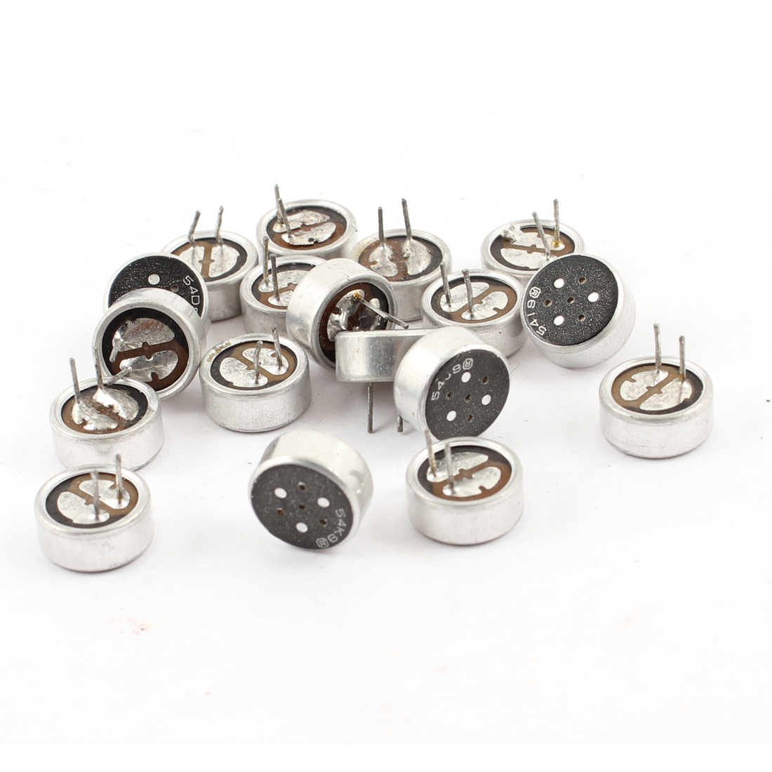 18 Pcs 2 Terminal Electret Condenser MIC Capsule Repair Parts for PC Phone MP3 MP4