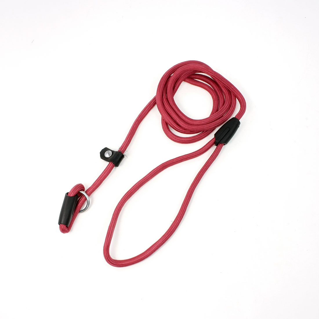 "Pet Doggie Red Twisted Rope Pulling Neck Leash Strap 56"" Long"