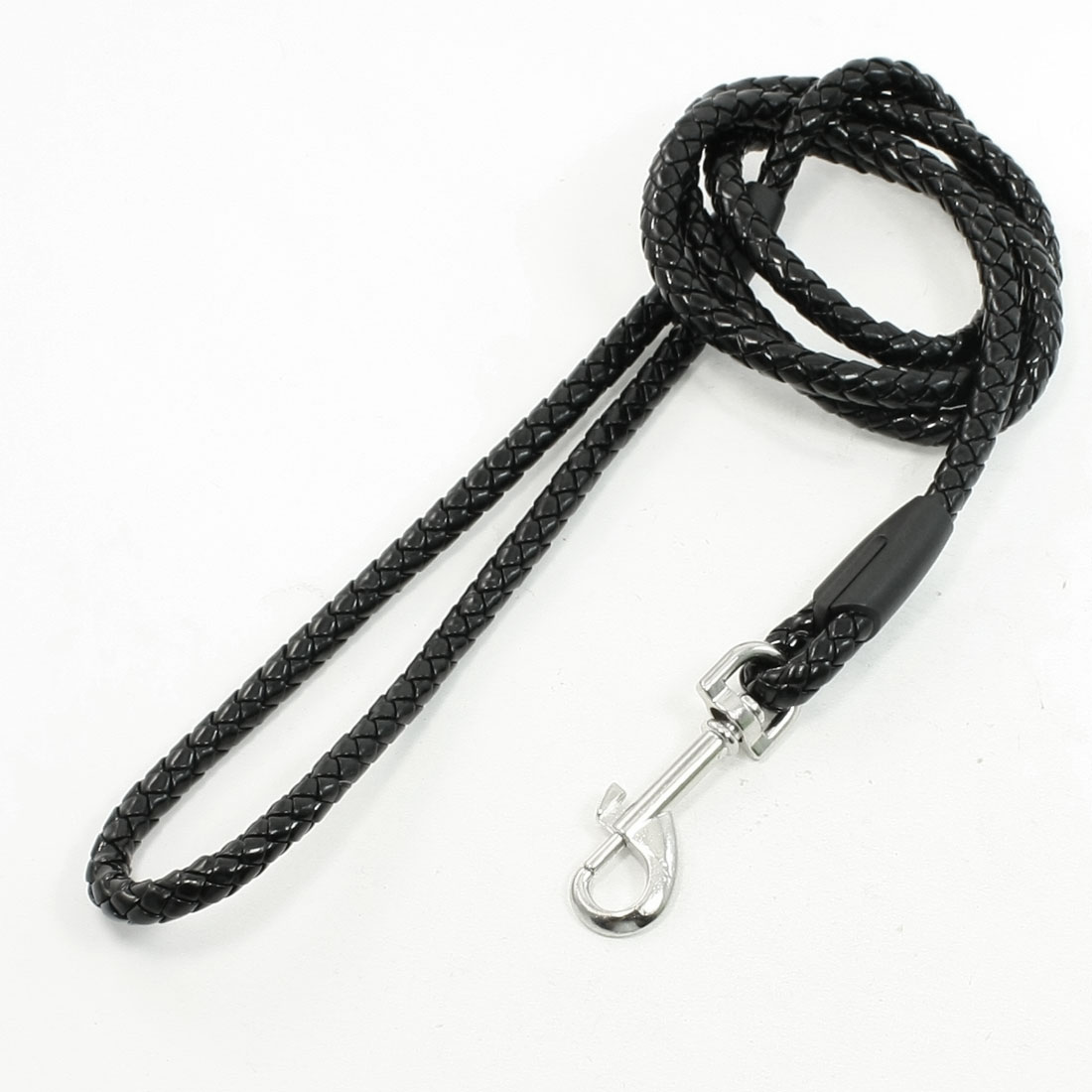 1.12M Losbter Clasp Hook to Lead Leash Pet Dog Traction Rope Black