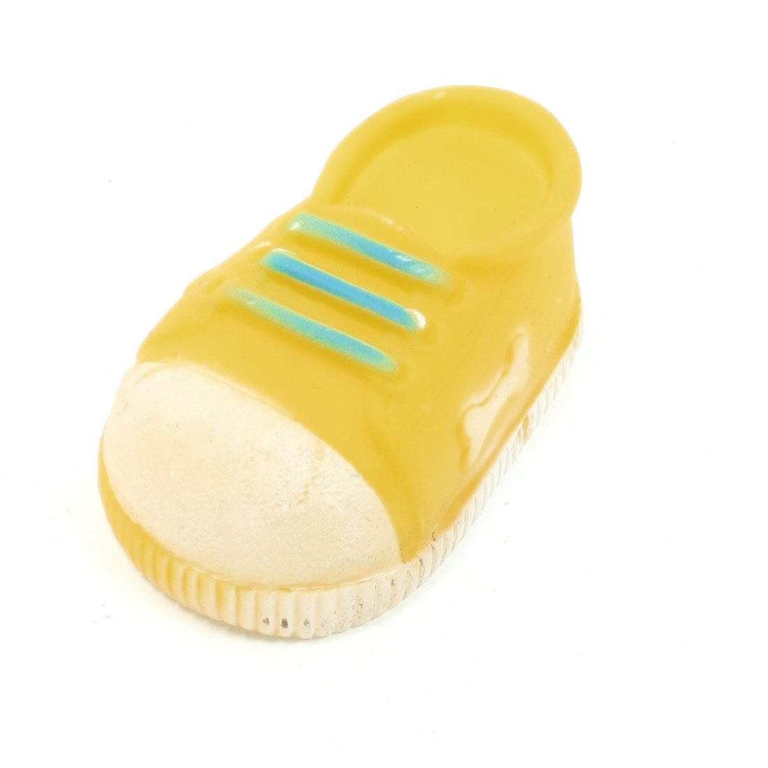 Doggie Puppy Squeeze Squeaker Sports Shoe Design Toy Yellow