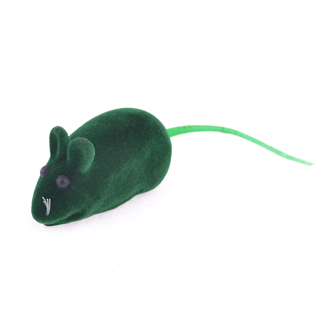Green Mouse Shape Black Eyes Squeaky Chew Toy for Pet Dog