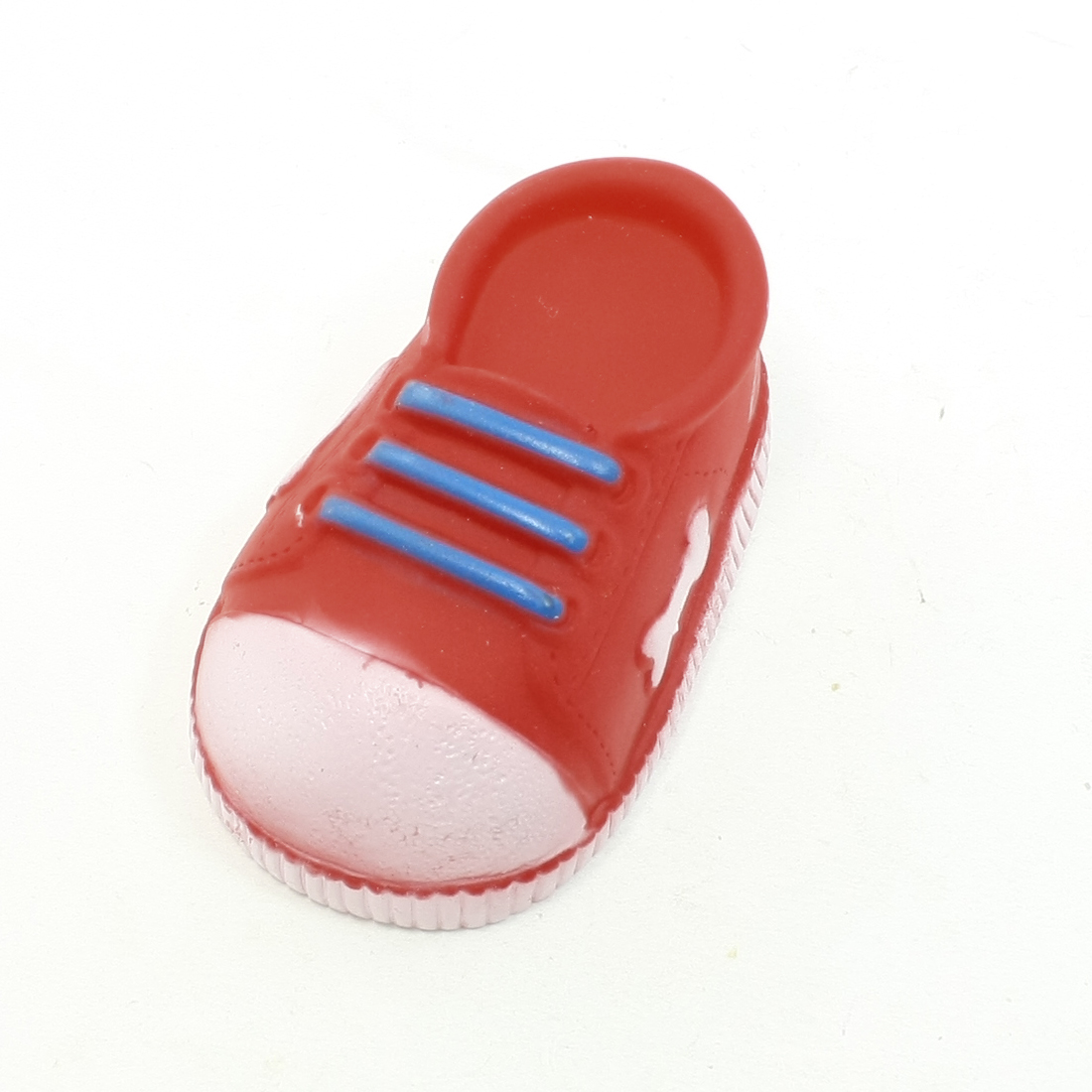 Doggie Puppy Squeeze Squeaker Sports Shoe Design Toy Red