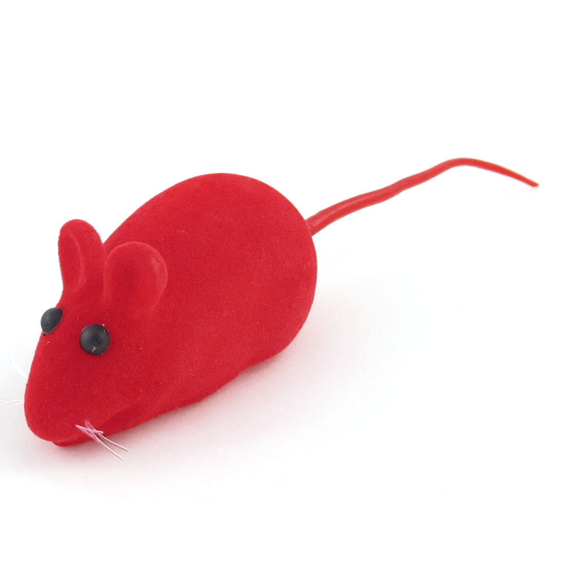 Red Mouse Shape Black Eyes Squeaky Chew Toy for Pet Dog