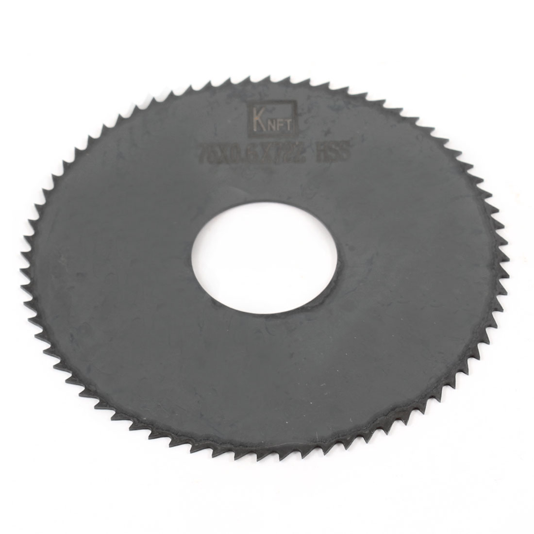 Hand Tool 75mm x 22mm x 0.6mm 72 Peg Teeth HSS Slitting Saw Blade