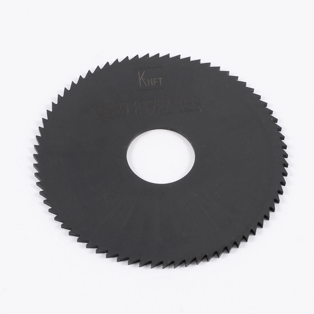 60mm x 1.2mm x 16mm Milling Cutter HSS 72T Slitting Saw Blade Black