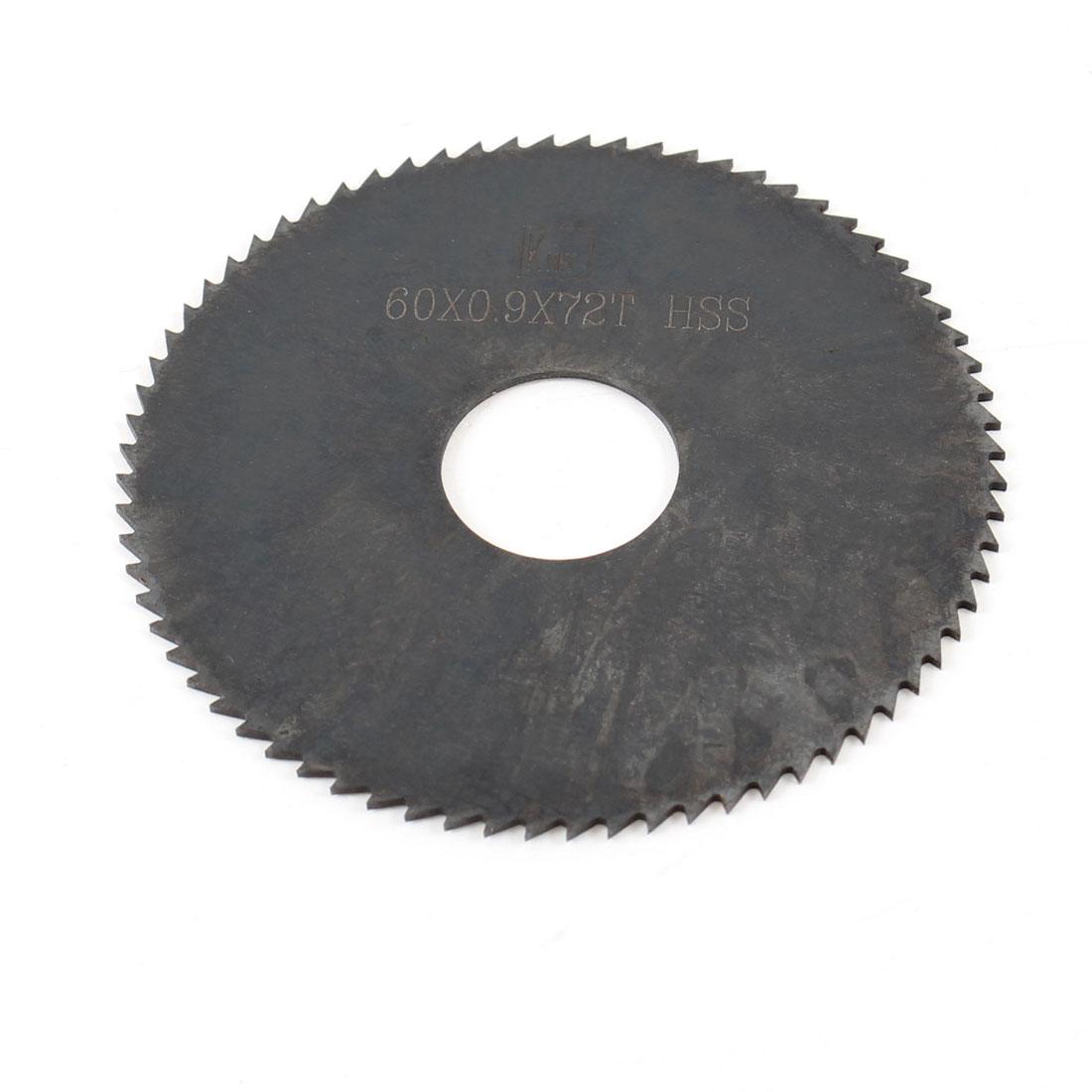 Hand Tool 60mm x 16mm x 0.9mm 72 Peg Teeth HSS Slitting Saw Blade