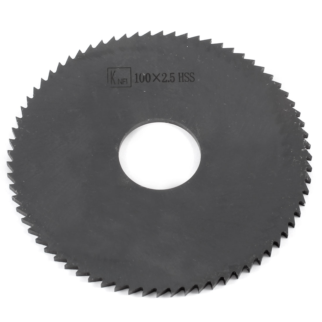 100mm x 2.5mm x 27mm Milling Cutter HSS 72T Slitting Saw Black