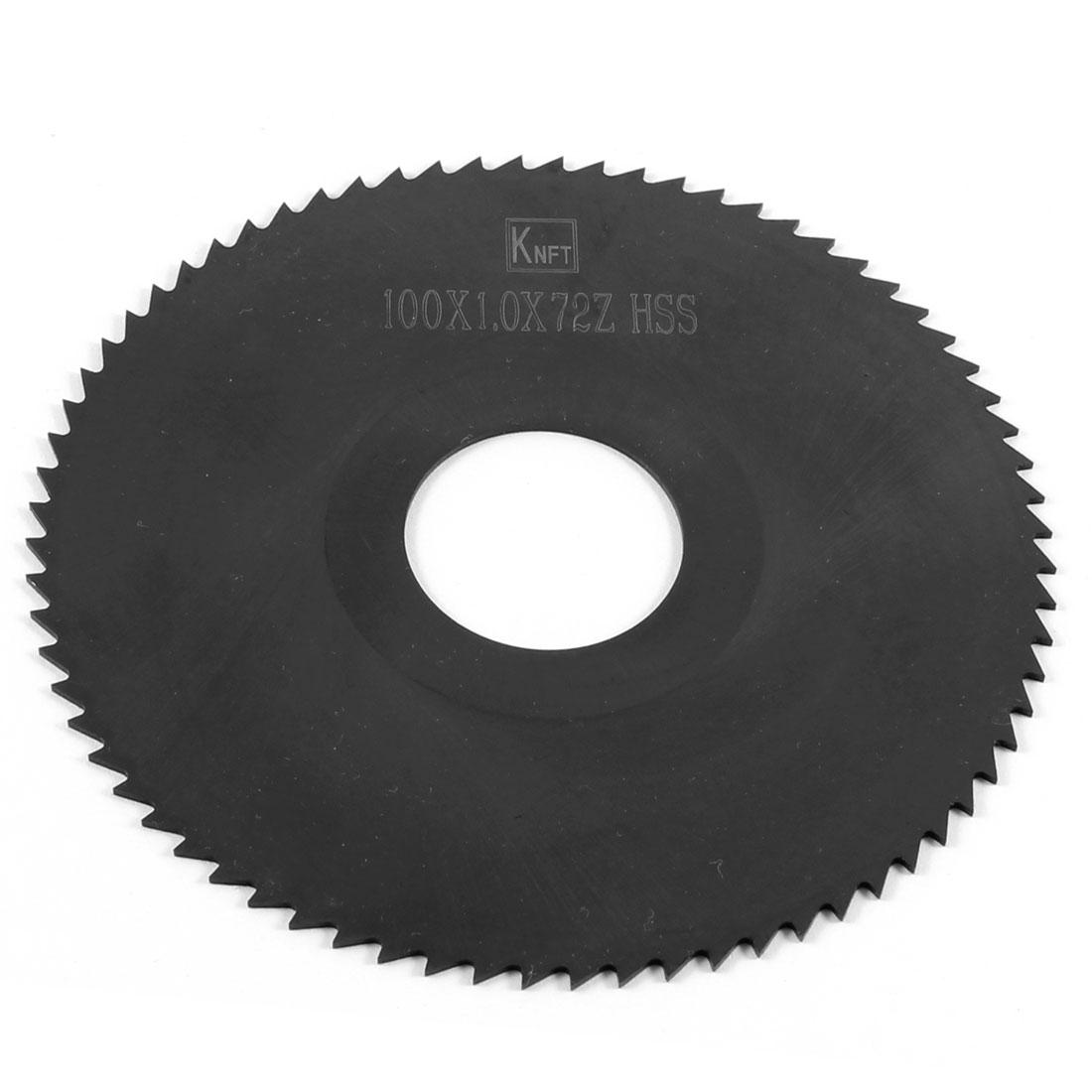 Black HSS 72 Teeth 100mm x 1.0mm x 27mm Slitting Saw Repair Parts