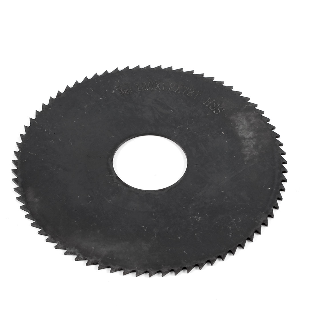 Black HSS 72 Teeth 100mm x 1.2mm x 27mm Slitting Saw Blade Repair Parts