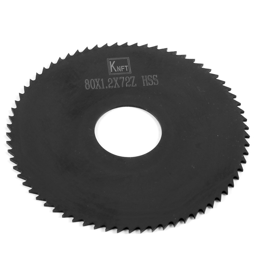 80mm x 1.2mm x 22mm Milling Cutter HSS 72T Slitting Saw Blade Black