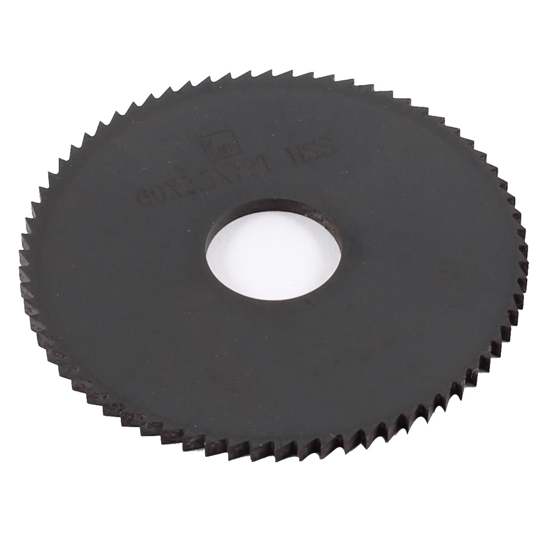 60mm x 2.5mm x 16mm Milling Cutter HSS 72T Slitting Saw Blade Black