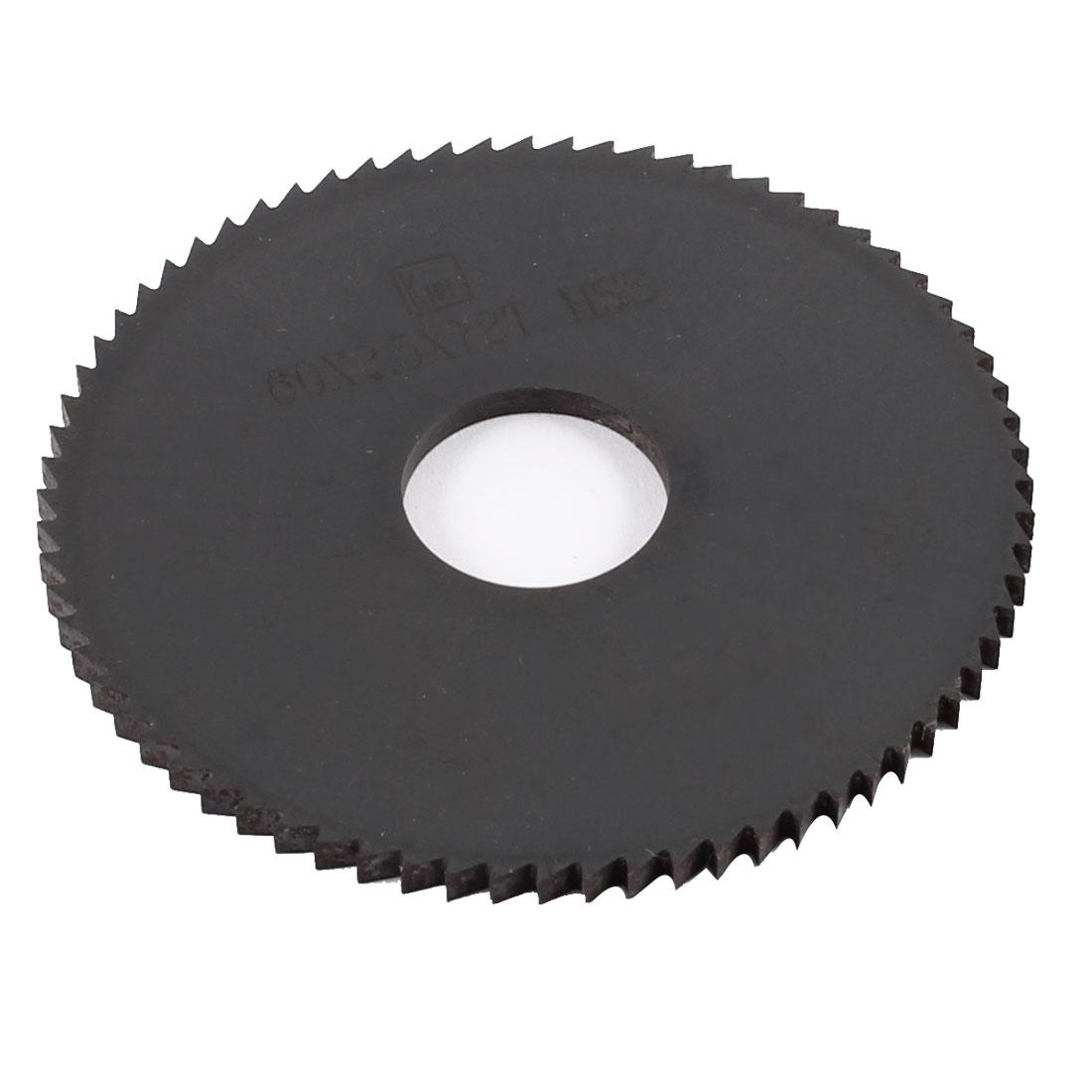 60mm x 2.5mm x 16mm Milling Cutter HSS 72T Slitting Saw Blade Black