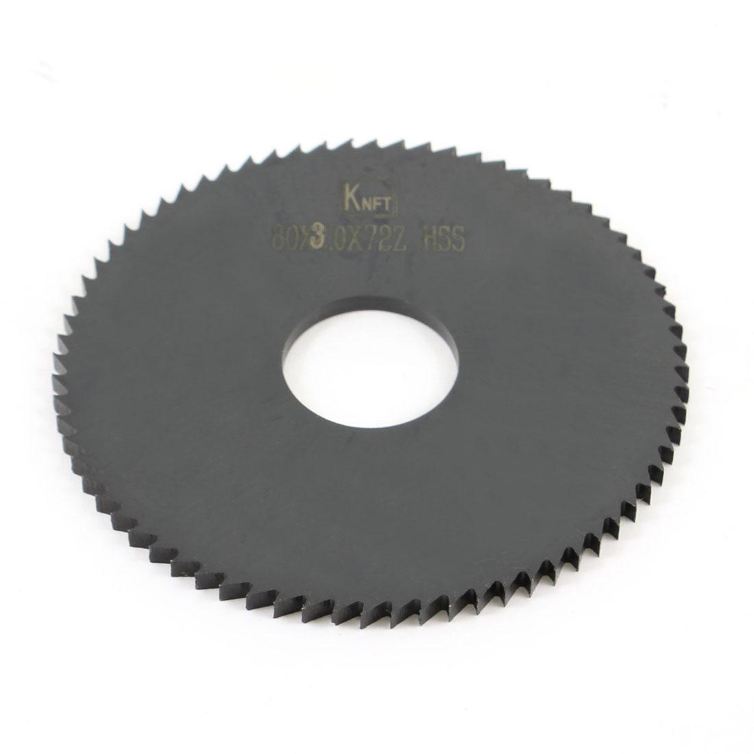 Hand Tool 80mm x 22mm x 1mm 72 Peg Teeth HSS Slitting Saw