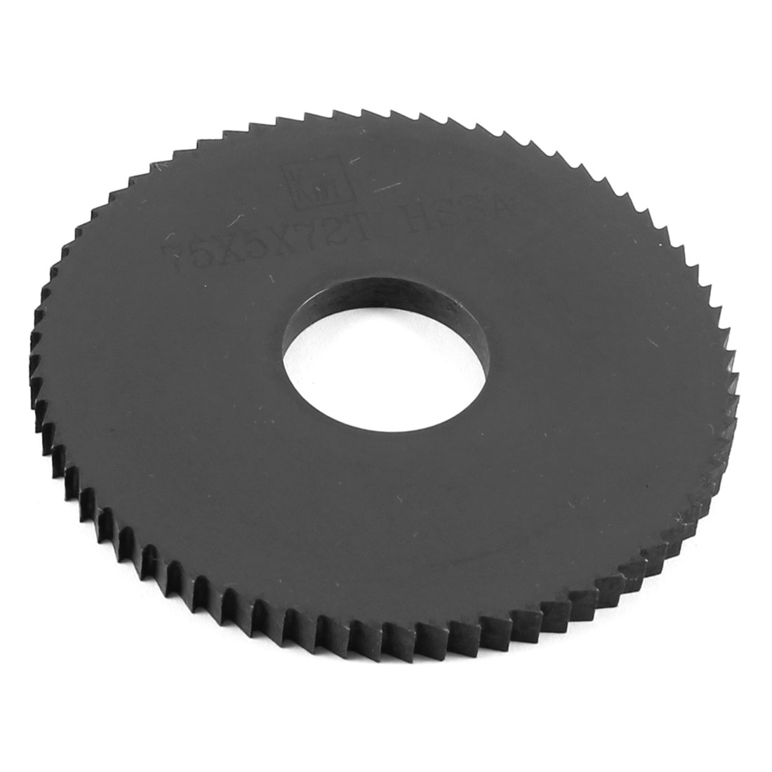 Black HSS 72 Teeth 75mm x 5mm x 22mm Slitting Saw Blade Repair Parts