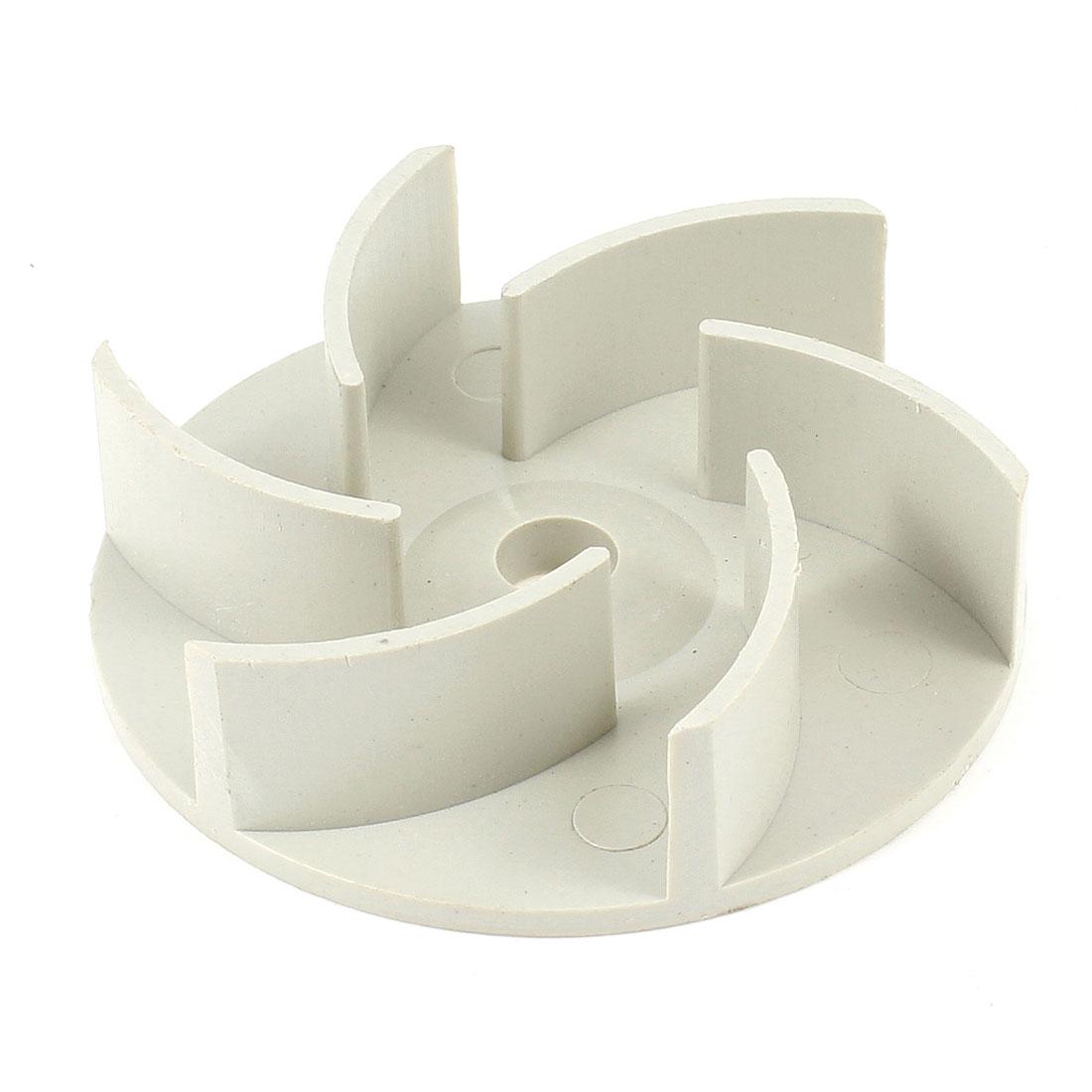 Light Gray Plastic 94mm Outside Dia. 6 Vanes Fuel Pump Impeller