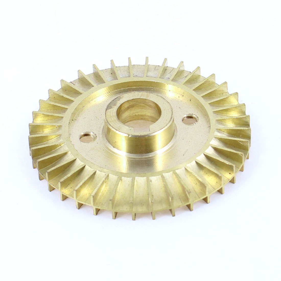 Water Pump Part Double Side 60mm Diameter Gold Tone Brass Impeller