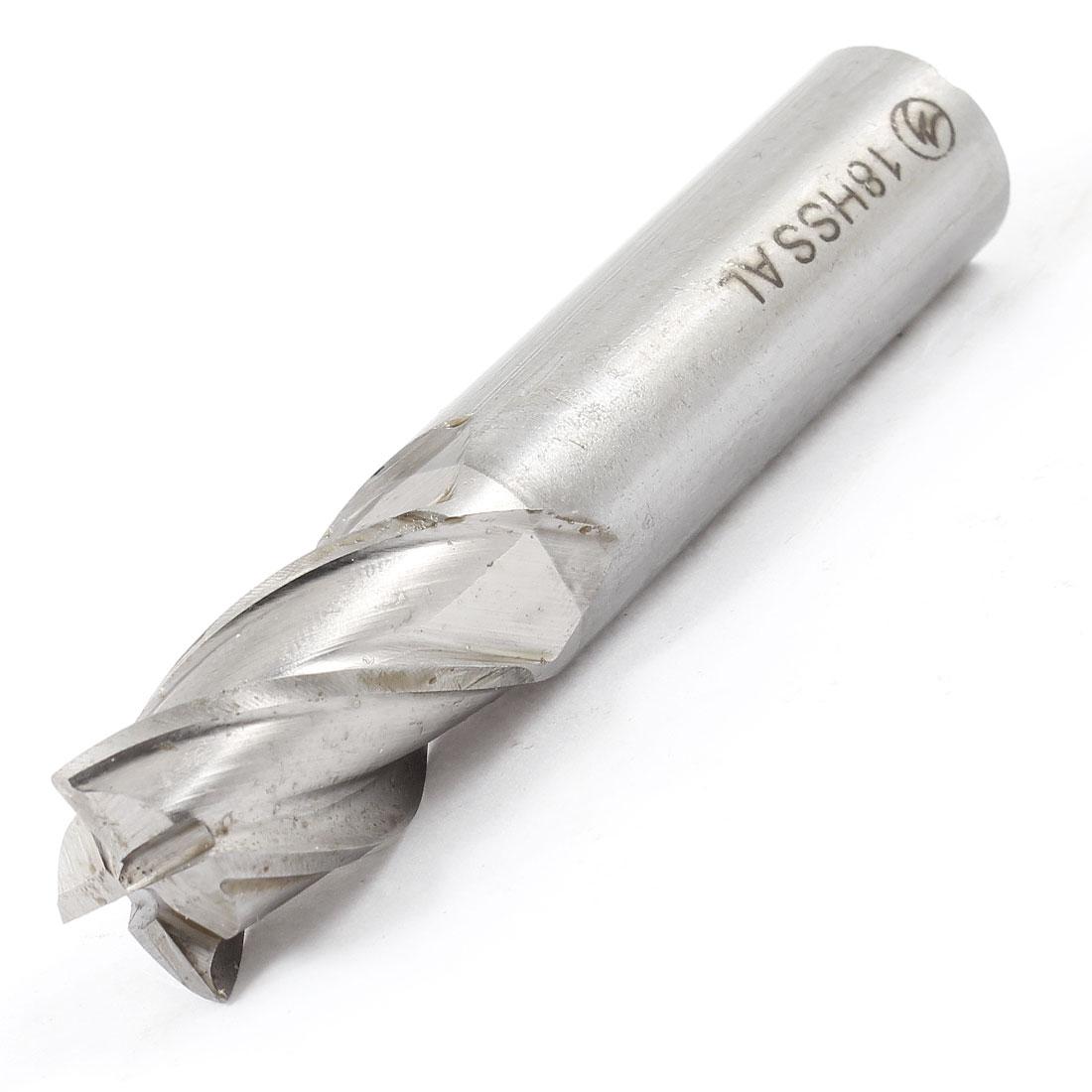 18mm x 18mm x 37mm x 92mm 4 Flutes HSS-AL End Mill Milling Cutter Tool
