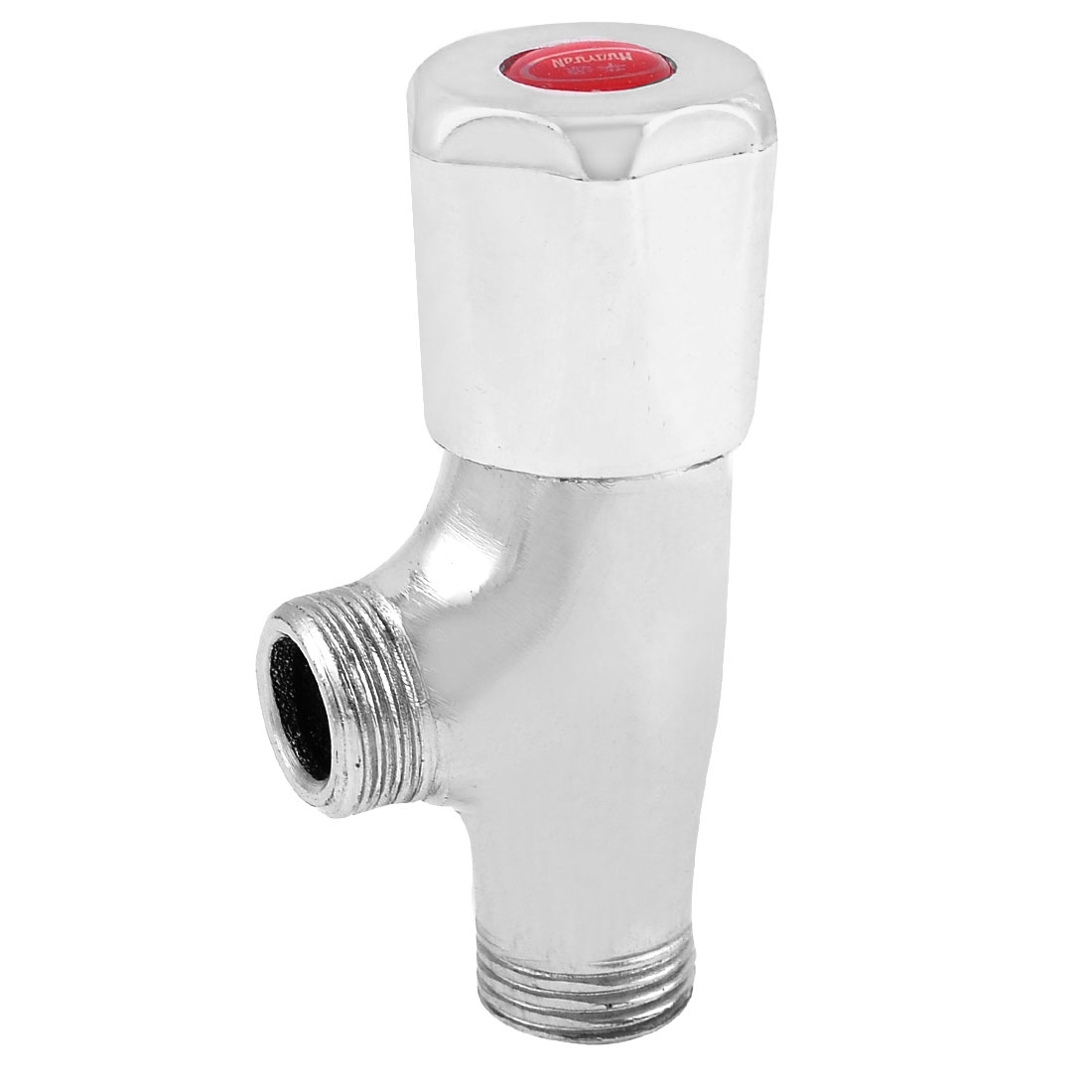 "Silver Tone 1/2"" Male Thread Stop Self Closing Delay Water Pipe Angle Valve"