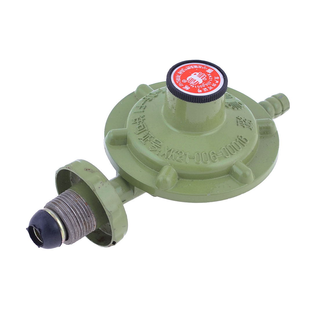 "Home Replacement Olive Green Metal Liquefied LPG Gas Reducer Regulator 1/2""PT"