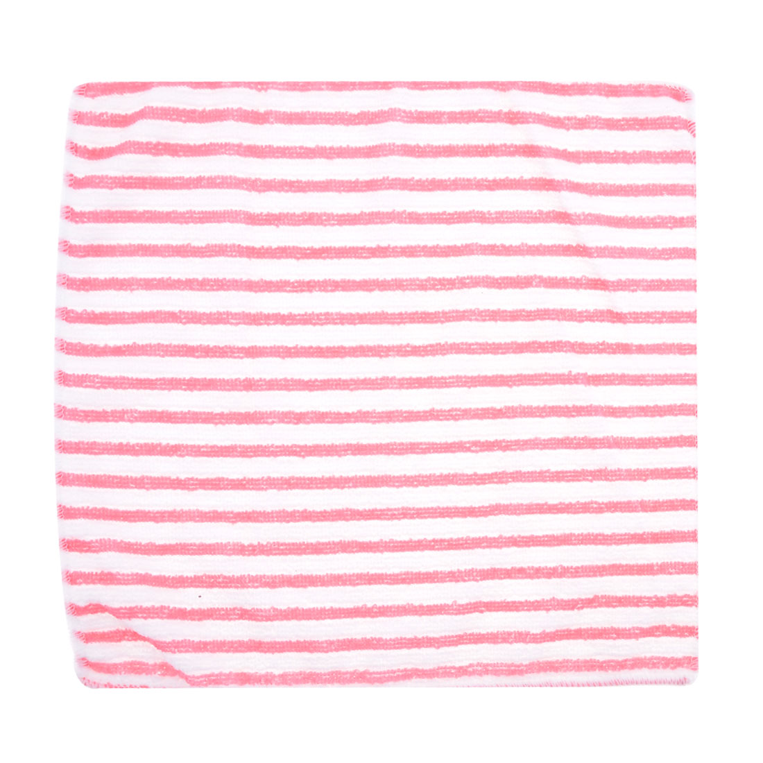 Vehicle Car Pink White Stripe Pattern Terry Washing Tool Cloth Pad Towel