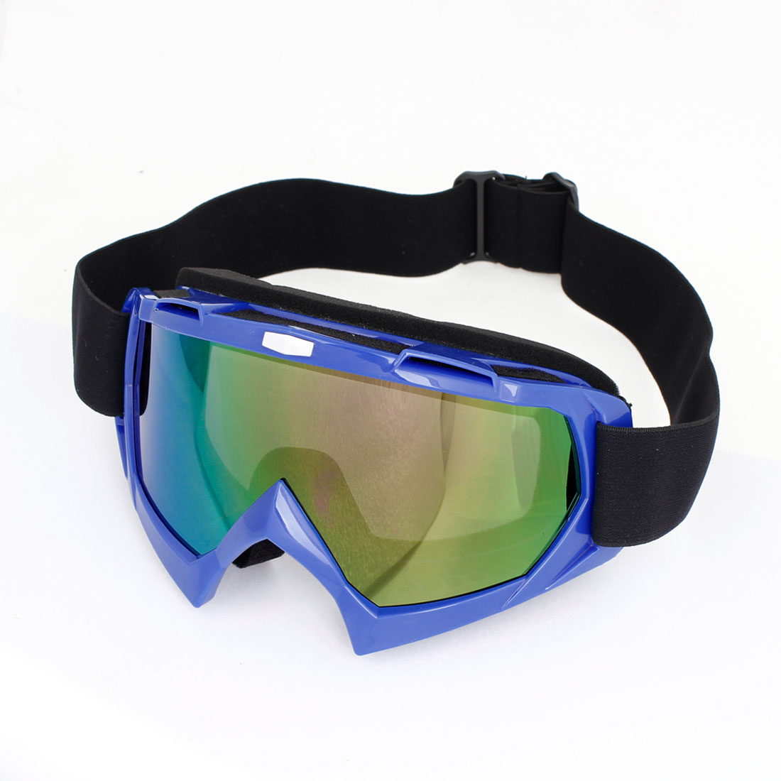 Motorcycle Blue Plastic Full Frame Protecting Goggle Glasses for Man