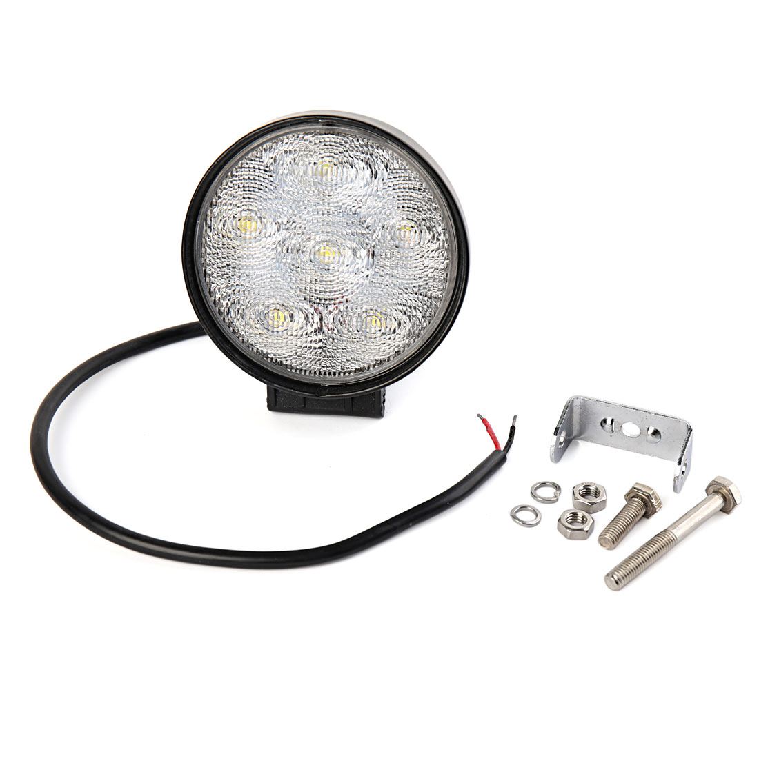 Round 18W LED Work Light Offroad Driving Lamp Truck Boat Bar 4WD 4x4 UTE White