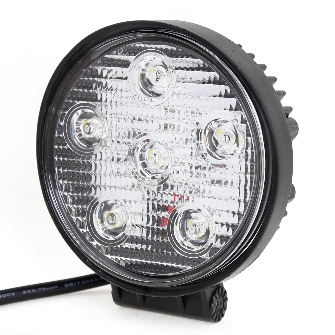 Round 18W 6 LED Work Light Spot Beam Fog Driving Lamp for offroad ATV SUV