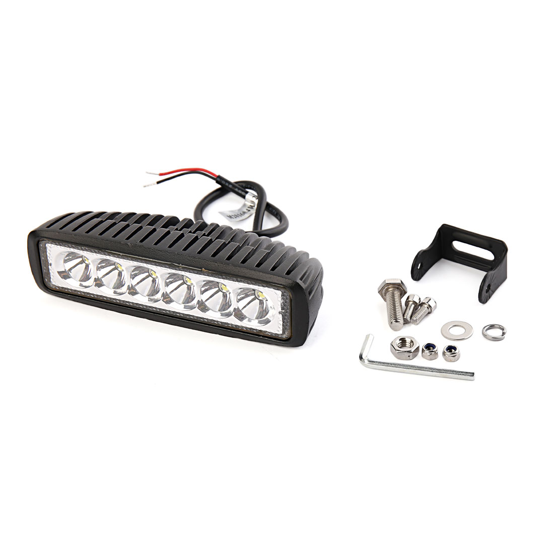18W White 6 LED Spot Beam Work Light Fog Driving Lamp Offroad SUV ATV