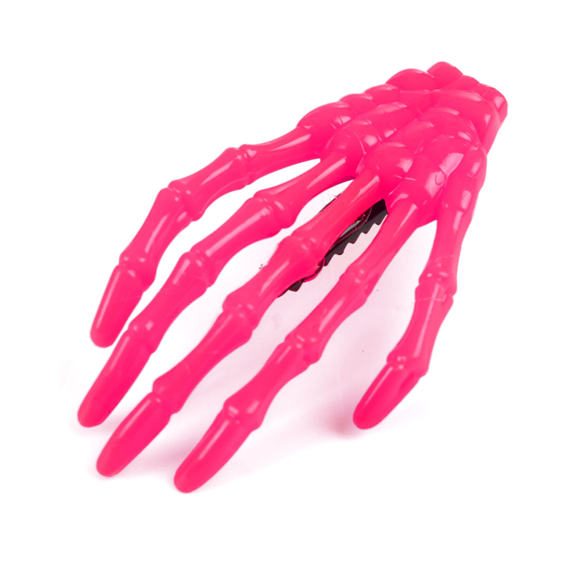 Plastic Skull Bone Hand Shape Claws Metal Teeth Alligator Hairpin Hair Clips