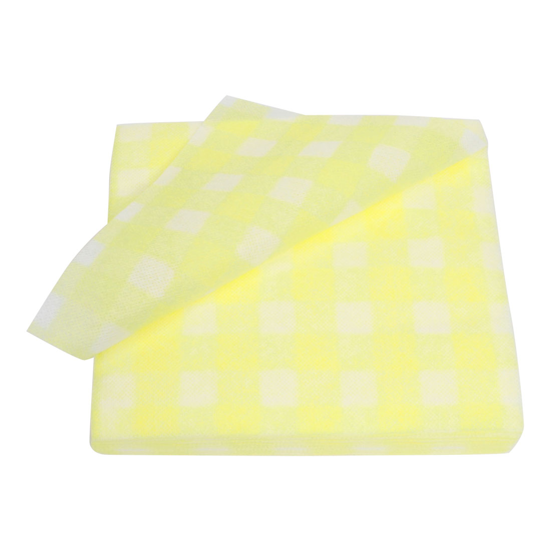 22cm x 21cm Yellow White Face Cleaning Disposable Towels 60 Pcs