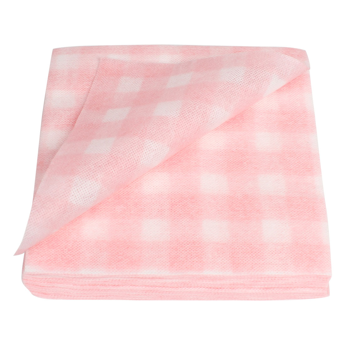 Portable Pink White Non-woven Wash Cloth Diaposable Towels 60 in 1