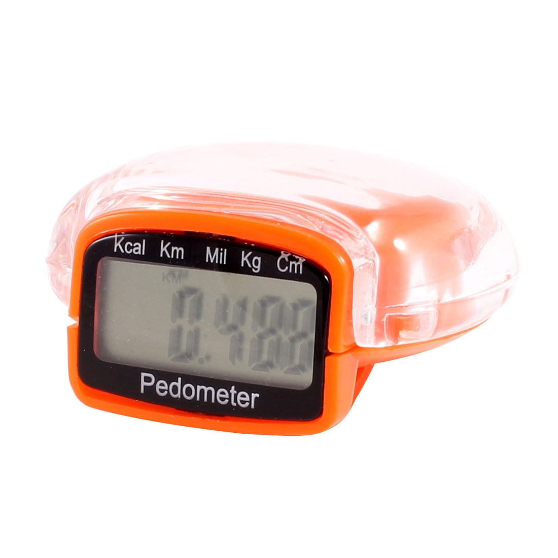 Orange Plastic Clip LCD Dispaly Run Step Pedometer Distance Counter Orange